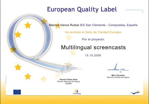 Selo Calidade Europeo
