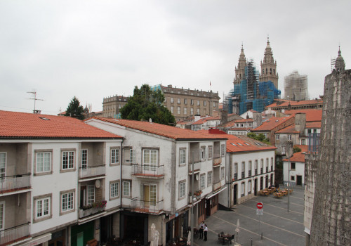 Vistas da catedral dende Aula 21 e 22