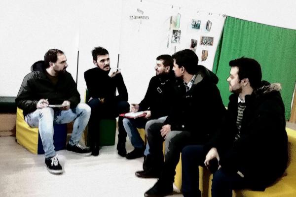 Entrevista no CEIP de Viñagrande-Deiro