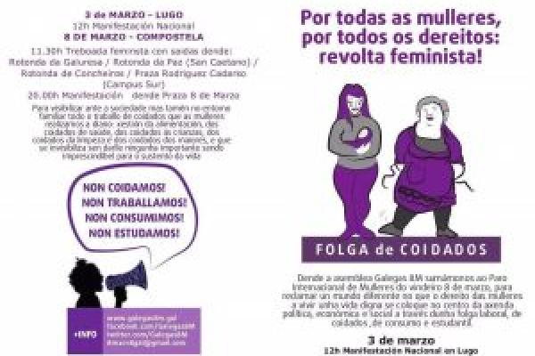 Mobilizacións en Compostela 8M