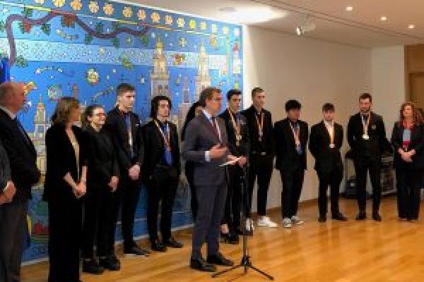 Recepción do presidente da Xunta ao alumnado premiado no SpainSkills 2019