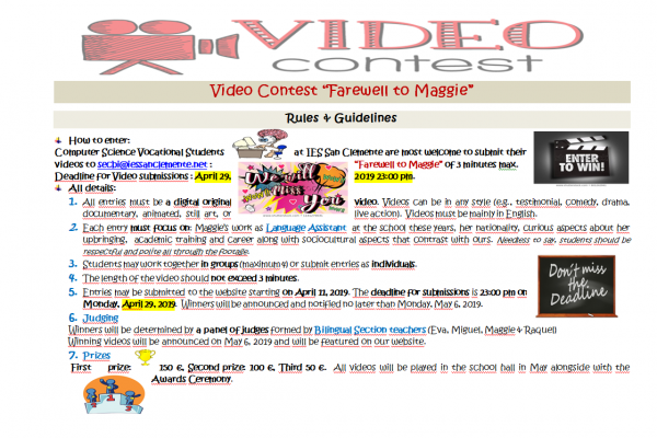Video Contest «Farewell to Maggie»