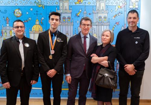 O presidente da Xunta recibe ao alumnado premiado nas SpainSkills 2019
