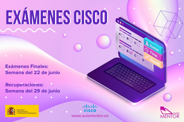 Convocatoria de exámenes Cisco-Mentor