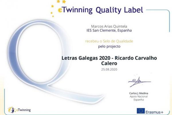 Selos de calidade eTwinning 2020
