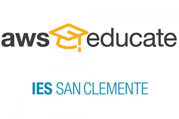 O IES San Clemente forma parte do programa Amazon AWS Educate.
