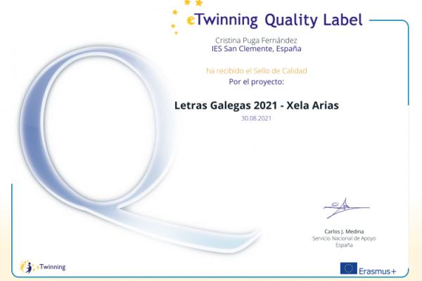 Selos de calidade eTwinning 2021