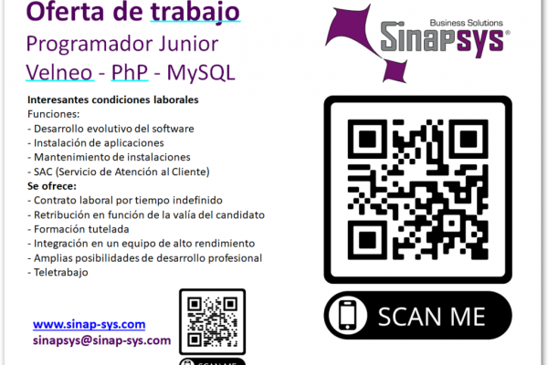 Oferta de emprego da empresa Sinapsys Business Solutions