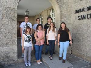 Seis participantes co profesor Jorge Carvalho